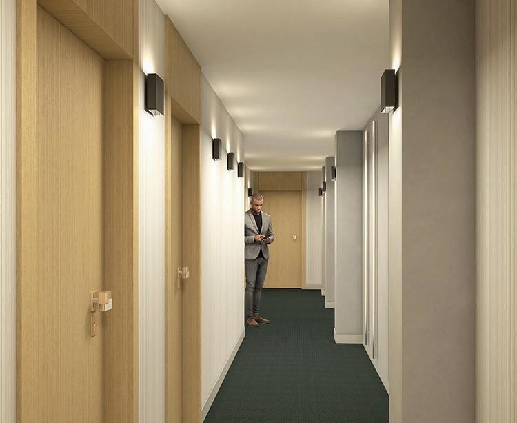 Palier d'étage du programme immobilier Rue Agrippa d'Aubigné à Paris 4
