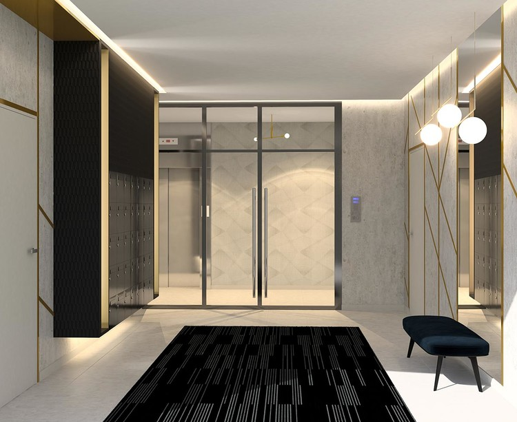 Hall d'entrée du programme immobilier neuf 4 boulevard Carnot à Alfortville