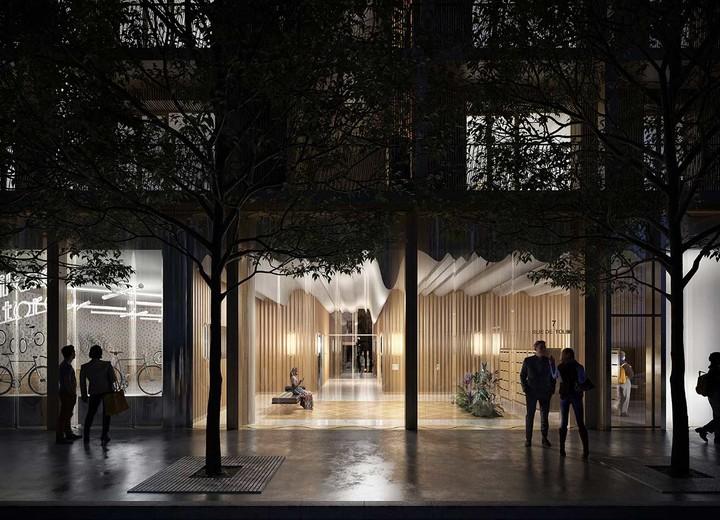 Hall d'entrée du programme immobilier neuf 7 rue de Tolbiac à Paris 13