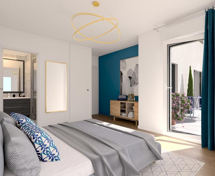 Chambre du programme immobilier neuf Vogue à Saint-Ouen