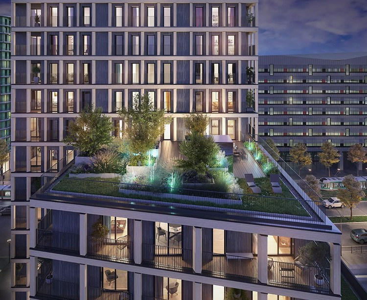 Terrasse partagée du programme immobilier neuf Le Berlier à Paris 13
