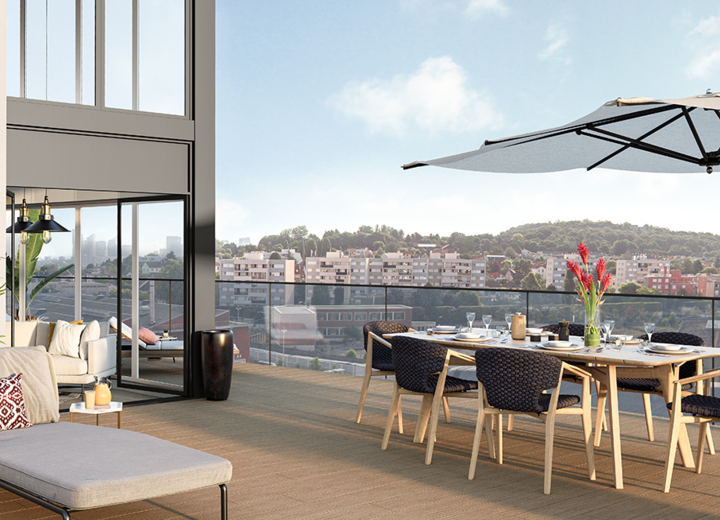 Appartement avec terrasse du programme immobilier neuf Carré de l'Arsenal