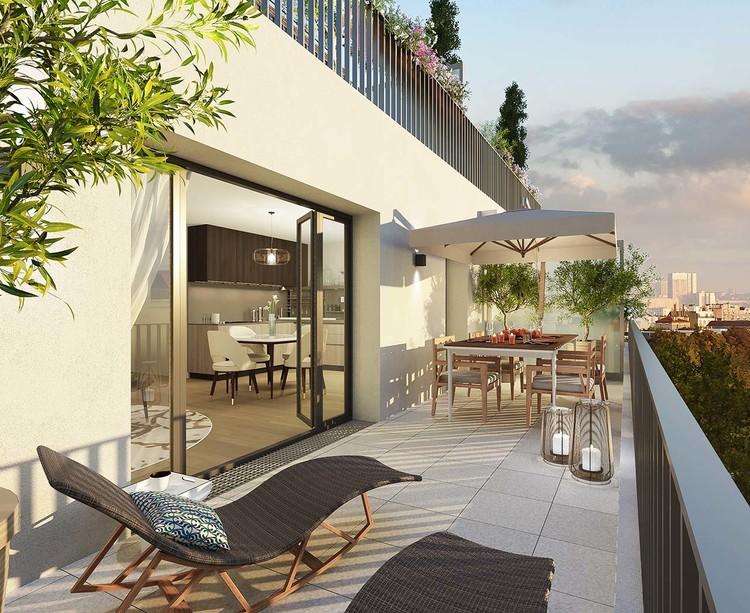 Terrasse du programme immobilier neuf Rue des Bons Raisins à Rueil-Malmaison