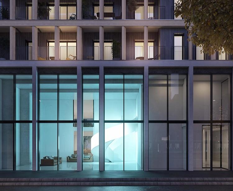 Socle du programme immobilier neuf Le Berlier à Paris 13