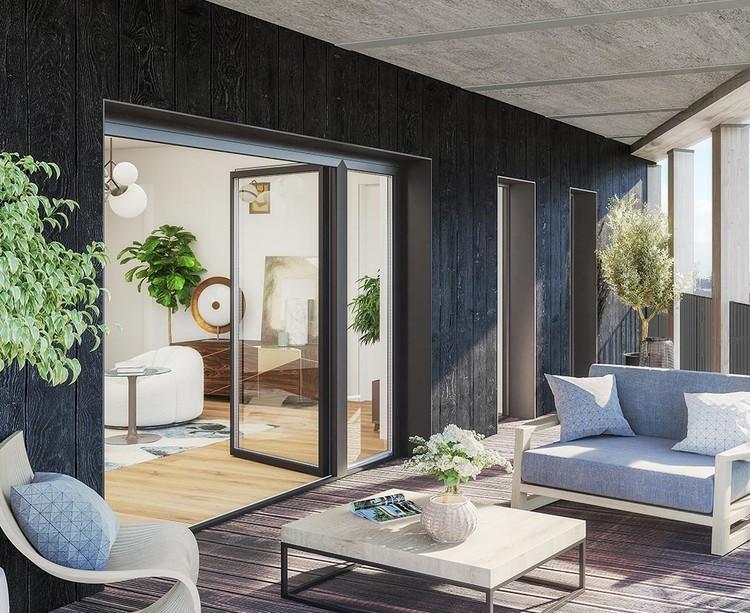 Balcon d'un appartement du programme immobilier Le Berlier à Paris 13