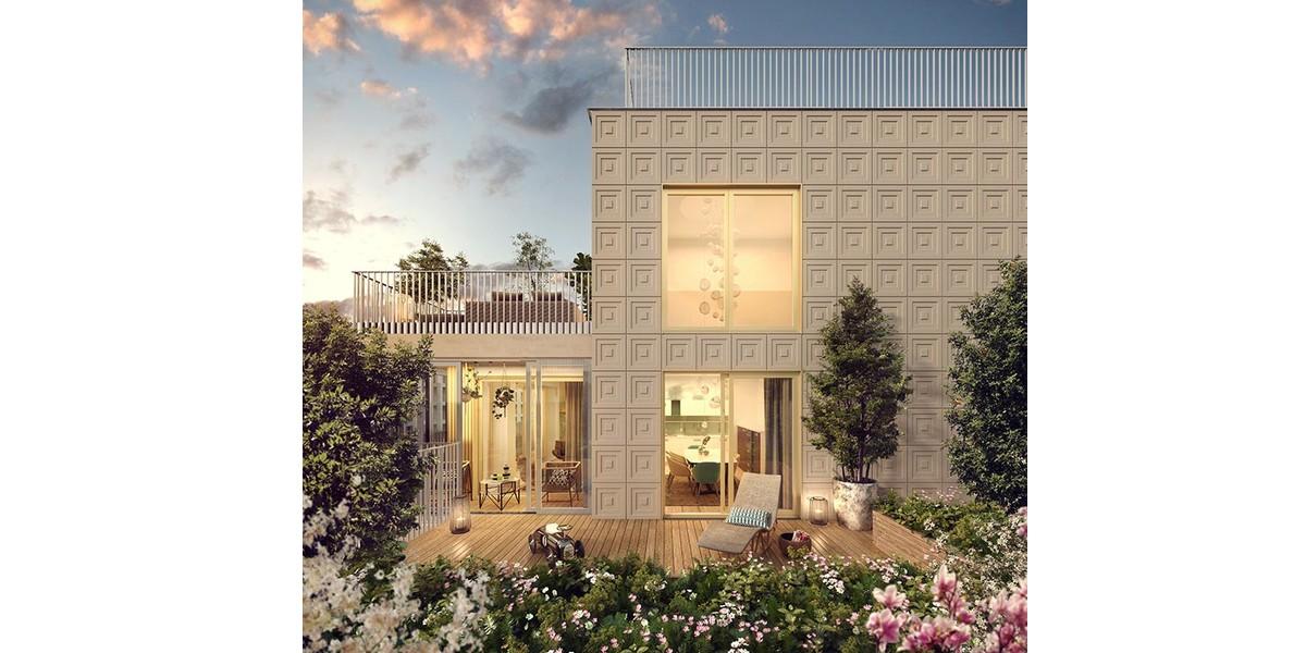 Terrasse d'un appartement du programme immobilier Ateliers Vaugirard chapitre 2
