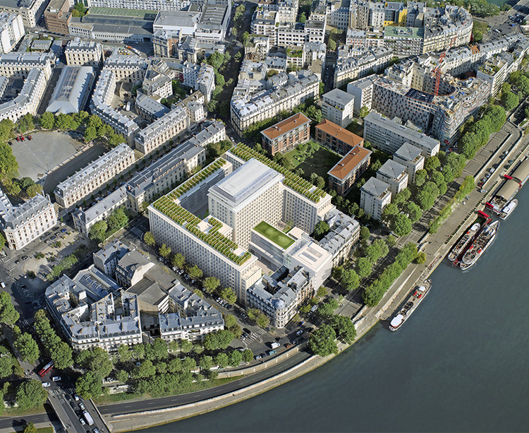 Vue aérienne du programme immobilier Rue Agrippa d'Aubigné à Paris 4