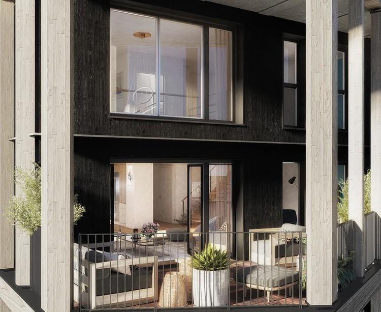 Loggia d'un appartement du programme immobilier Le Berlier à Paris 13