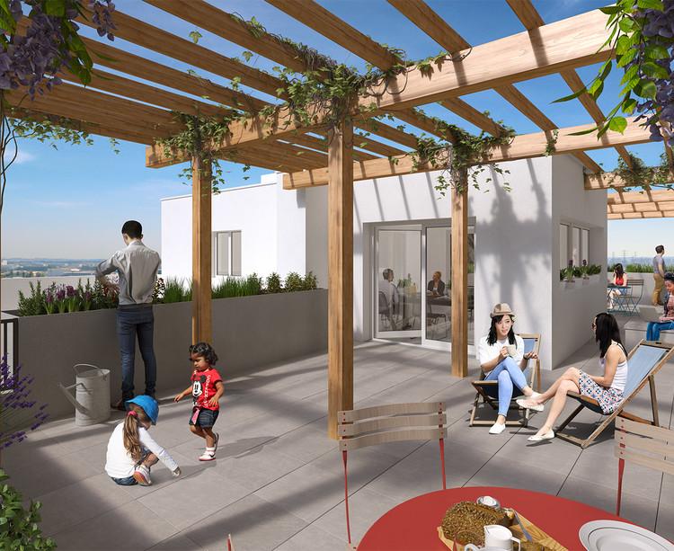 Toiture-terrasse du programme immobilier neuf Variations à Vitry-sur-Seine