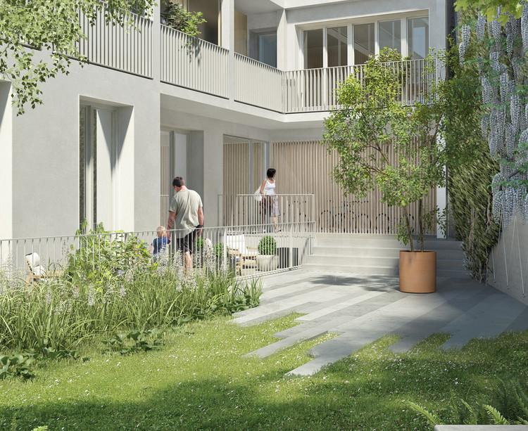 Jardin en coeur d'îlot du programme immobilier neuf 5 Rue Erard à Paris 12
