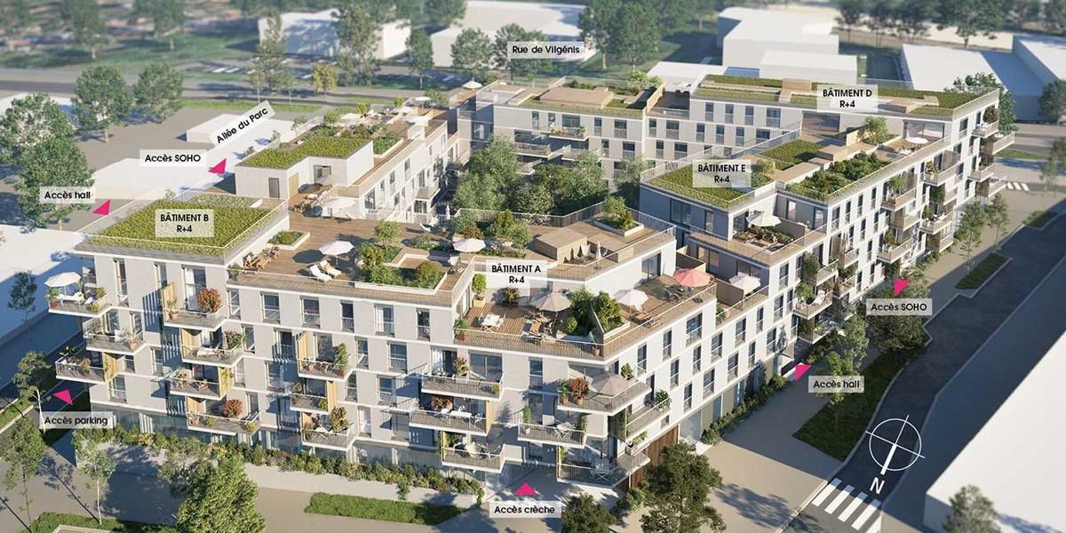 Vue d'ensemble du programme immobilier neuf Allée du Parc à Massy