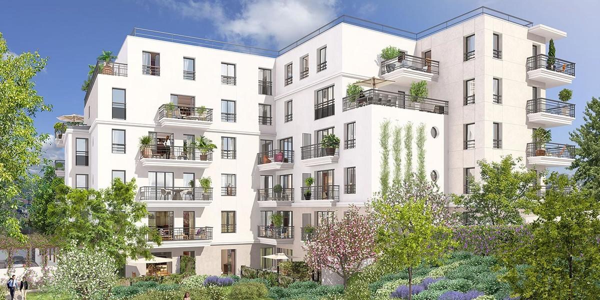 Coeur d'îlot du programme immobilier 3 rue Jacques Decour à Suresnes