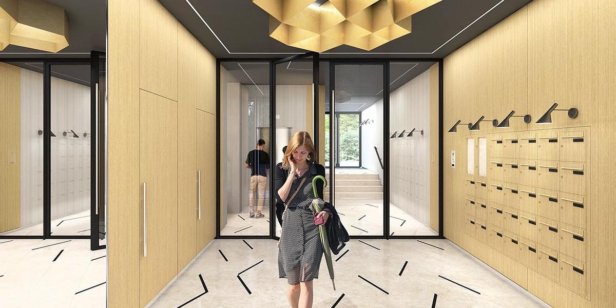 Hall d'entrée du programme immobilier Rue Agrippa d'Aubigné à Paris 4
