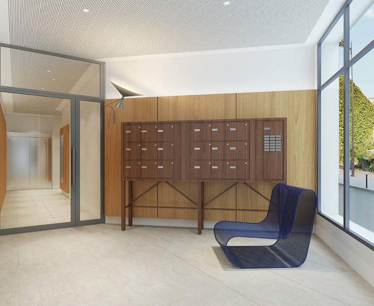 Hall d'entrée du programme immobilier neuf 23 Crimée à Paris 19