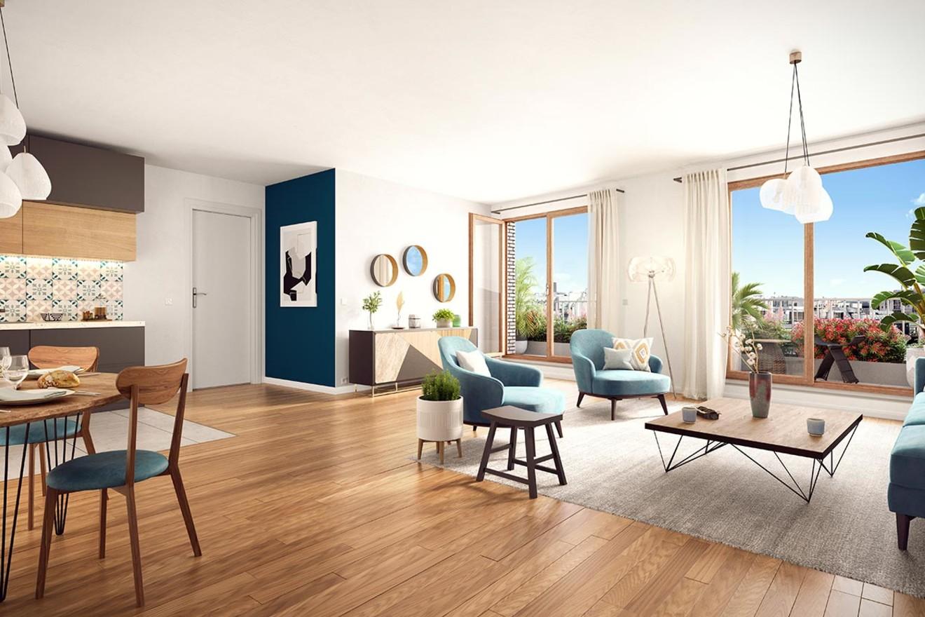 Rue Petit à Paris 19 : appartement