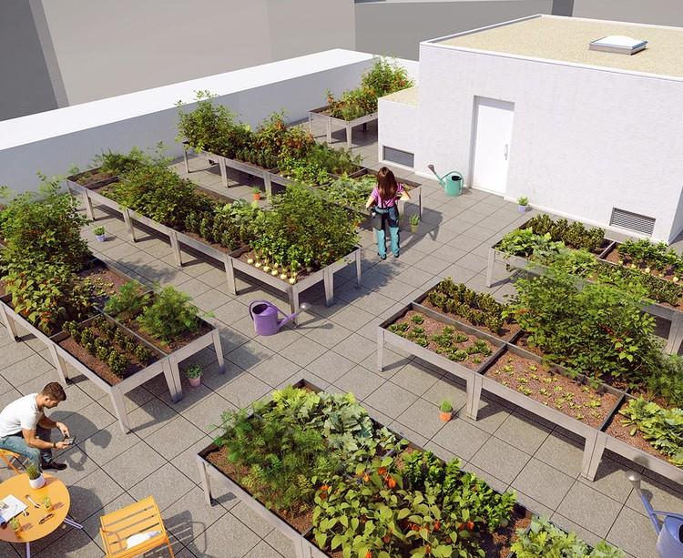 Toiture-terrasse du programme immobilier neuf 14 Ornano à Saint-Denis