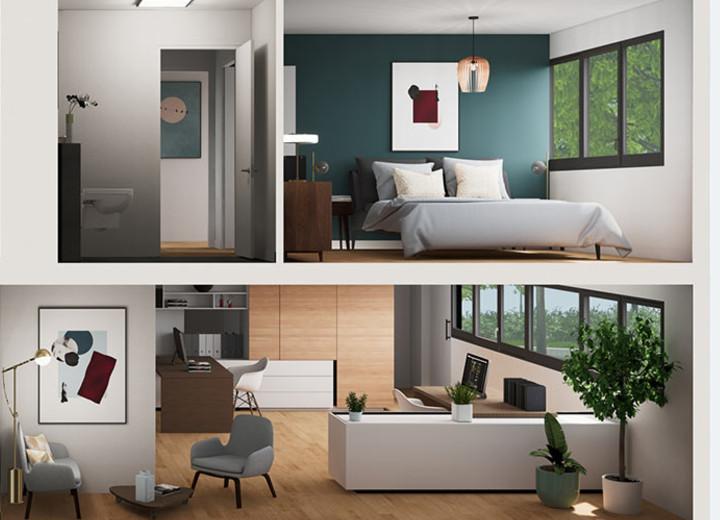 """Appartements du programme immobilier neuf """"Allée du Parc"""" à Massy"""