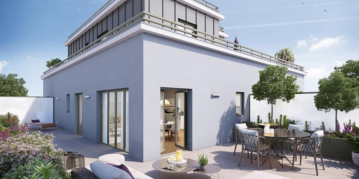 Terrasse d'un appartement du programme immobilier 1 Marcel Sembat à Saint-Denis