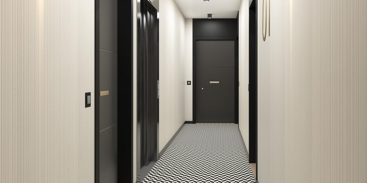 Palier d'étage du programme neuf Rue Edouard Renard à Pantin