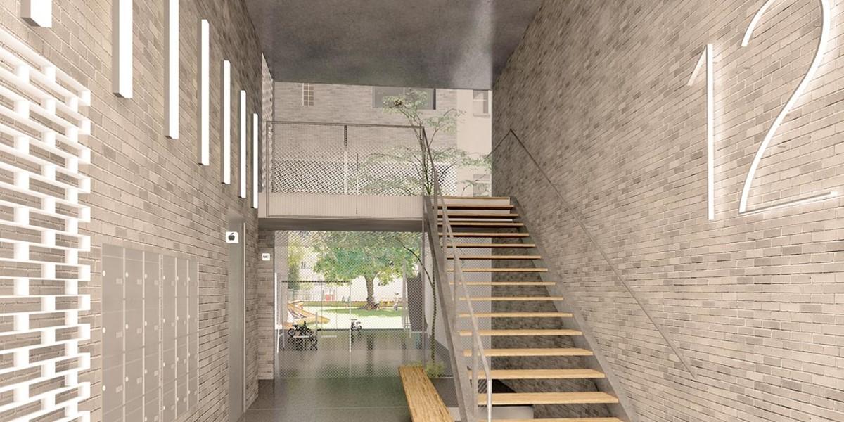 Hall d'entrée du programme immobilier neuf 12 Popincourt à Paris 11
