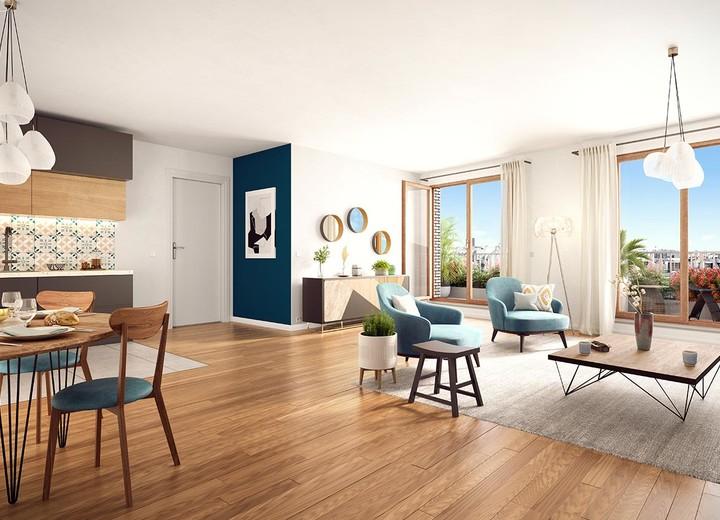 Prestations du programme immobilier neuf Rue Petit à Paris 19