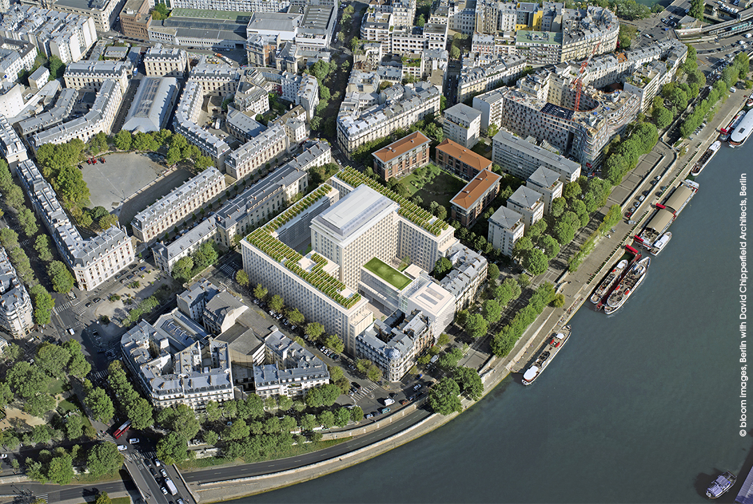 Programme immobilier Rue Agrippa d'Aubigné à Paris 4 : vue aérienne