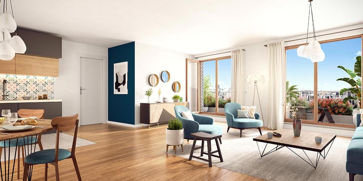 Appartement neuf du programme immobilier Rue Petit à Paris 19