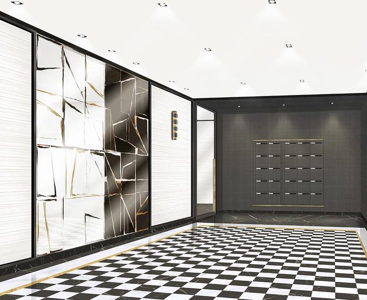 Hall d'entrée de la résidence 31 rue Fernand Forest à Suresnes