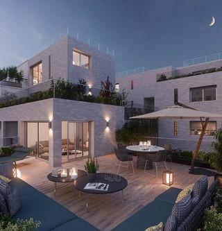 Terrasse du programme immobilier neuf 12 Popincourt à Paris 11