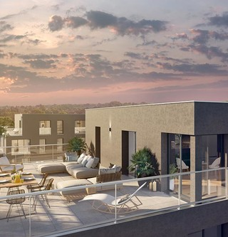 Terrasse du programme immobilier neuf à Rueil-Malmaison 6 Rue Paul Héroult